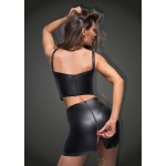 Eco-leather skirt with tape - XXL